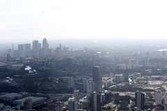 London docklands skyline view from above Royalty Free Stock Photos