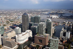 London docklands skyline view from above Royalty Free Stock Image