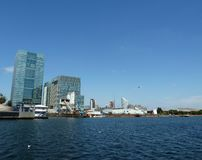 London Docklands Water View Stock Photography
