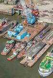 London docks from above Royalty Free Stock Photo