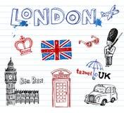 London Doodles Stock Images