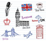 London Doodles Stock Photos
