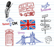London Doodles Stock Photography