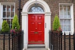 London door. London architecture style, UK - beautiful Georgian front door Royalty Free Stock Photography