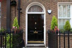 London door. London, United Kingdom - beautiful Georgian front door Stock Photos