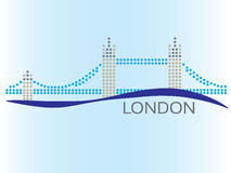 London dotted image. European Capital - London dotted image Stock Images