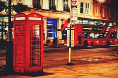 London. Double decker bus Royalty Free Stock Images