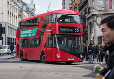 London Double Decker bus. Double Decker bus in Oxford Circus area of London, United Kingdom Royalty Free Stock Photos