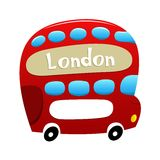 London Double Decker Bus Stock Photo