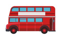 London double decker bus. In white background vector illustration graphic design stock illustration