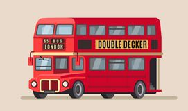 Double decker city bus vector illustration