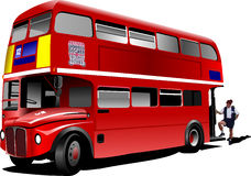 London double Decker  red bus Stock Photography