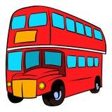 London double decker red bus icon cartoon. London double decker red bus icon in cartoon style isolated vector illustration royalty free illustration