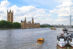 London Duck Tours, Thames River Royalty Free Stock Photography