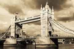 London durch Weinlese. Stockfotografie