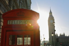 London in Early Morning Sun Stock Photo
