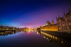 London. Early mornning  Thames river view from Westminster Bridge  London House of Parliament    old architecture  Europe Stock Photos