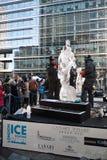 London-Eis-Sculpting Festival Lizenzfreie Stockbilder