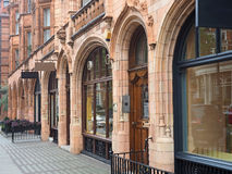London, elegant terracotta storefronts Royalty Free Stock Photo
