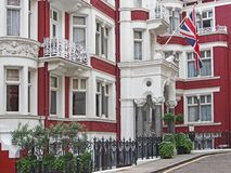 London, elegant townhouse Stock Photos
