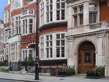 London, elegant townhouses Royalty Free Stock Photos