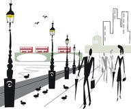 London Embankment illustration Royalty Free Stock Photography