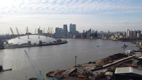 London emirates air line cable car. O2 Center Royalty Free Stock Photos