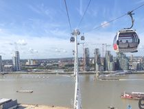 London Emirates Airline Cable Car stock image