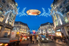 LONDON, ENGLAND – DECEMBER 30, 2014: Oxford street on sale sea. Son after Christmas. This street is a major shopping street of London Royalty Free Stock Images