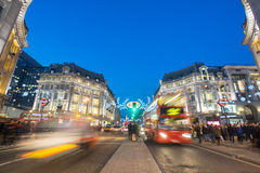 LONDON, ENGLAND – DECEMBER 30, 2014: Oxford street on sale sea. Son after Christmas. This street is a major shopping street of London Stock Images