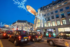 LONDON, ENGLAND – DECEMBER 30, 2014: Oxford street on sale sea. Son after Christmas. This street is a major shopping street of London Stock Photography