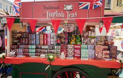 Free LONDON. England - 08/20/2019: Traveling Stall Of English Tea, In The Portobello Market Royalty Free Stock Photo - 159712305