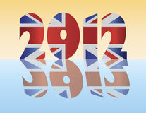 London England 2012 Silhouette Flag Illustration Royalty Free Stock Photo