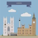 London, England stock abbildung