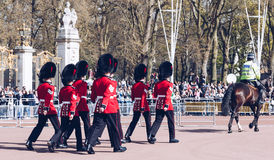 London, England - April 4, 2017 - the changing of the guard at B Royalty Free Stock Images