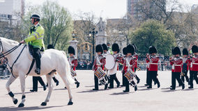London, England - April 4, 2017 - the changing of the guard at B Stock Photography