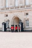 London, England - April 4, 2017 - the changing of the guard at B Stock Images