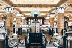 London, England - April 4, 2017: Interior of the famous Harrods Stock Photography
