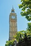 LONDON, ENGLAND - AUGUST 01, 2013: Big Ben Clock Tower, a popula Stock Photography