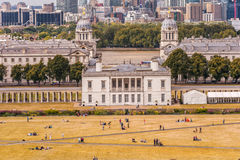 LONDON, ENGLAND - AUGUST 21, 2016: Greenwich Park and National Maritime Museum, Gardens, University of Greenwich, Old Royal Naval. Greenwich Park and National Stock Images