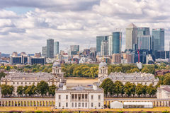 LONDON, ENGLAND - AUGUST 21, 2016: Greenwich Park and National Maritime Museum, Gardens, University of Greenwich, Old Royal Naval. Greenwich Park and National Royalty Free Stock Photo