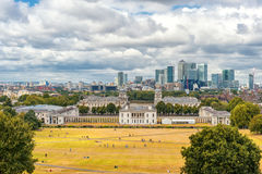 LONDON, ENGLAND - AUGUST 21, 2016: Greenwich Park and National Maritime Museum, Gardens, University of Greenwich, Old Royal Naval. Greenwich Park and National Royalty Free Stock Images