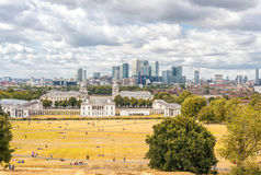 LONDON, ENGLAND - AUGUST 21, 2016: Greenwich Park and National Maritime Museum, Gardens, University of Greenwich, Old Royal Naval. Greenwich Park and National Stock Image