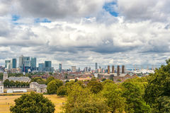 LONDON, ENGLAND - AUGUST 21, 2016: Greenwich Park and National Maritime Museum, Gardens, University of Greenwich, Old Royal Naval. Greenwich Park and National Stock Photo