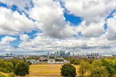 LONDON, ENGLAND - AUGUST 21, 2016: Greenwich Park and National Maritime Museum, Gardens, University of Greenwich, Old Royal Naval. Greenwich Park and National Stock Photography