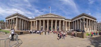 Panorama of the exterior facade of the British Museum stock photos