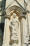 LONDON, ENGLAND - AUGUST 02, 2013: Sculptures on the exterior of royalty free stock image