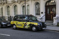 LONDON, ENGLAND - AUGUST 02, 2015: London Taxi also called black cab in central London stock photography