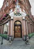 Audley House in the upscale Mayfair district has been catering to wealthy clients since 1883 Royalty Free Stock Image