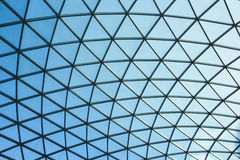 LONDON / ENGLAND - CIRCA AUGUST 2013 - The glass cupola of the British Museum interior Great Court Stock Image